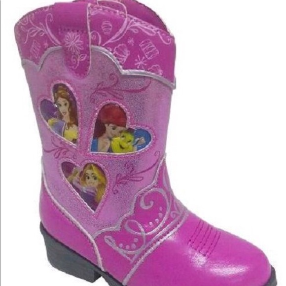 d8013e64046 🆕 Disney Princess Pink Cowboy Western Boot NWT
